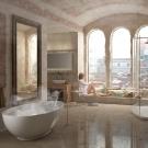 3D - interieur mit model im badezimmer