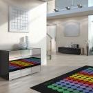 3D - interieur mit panton-teppich