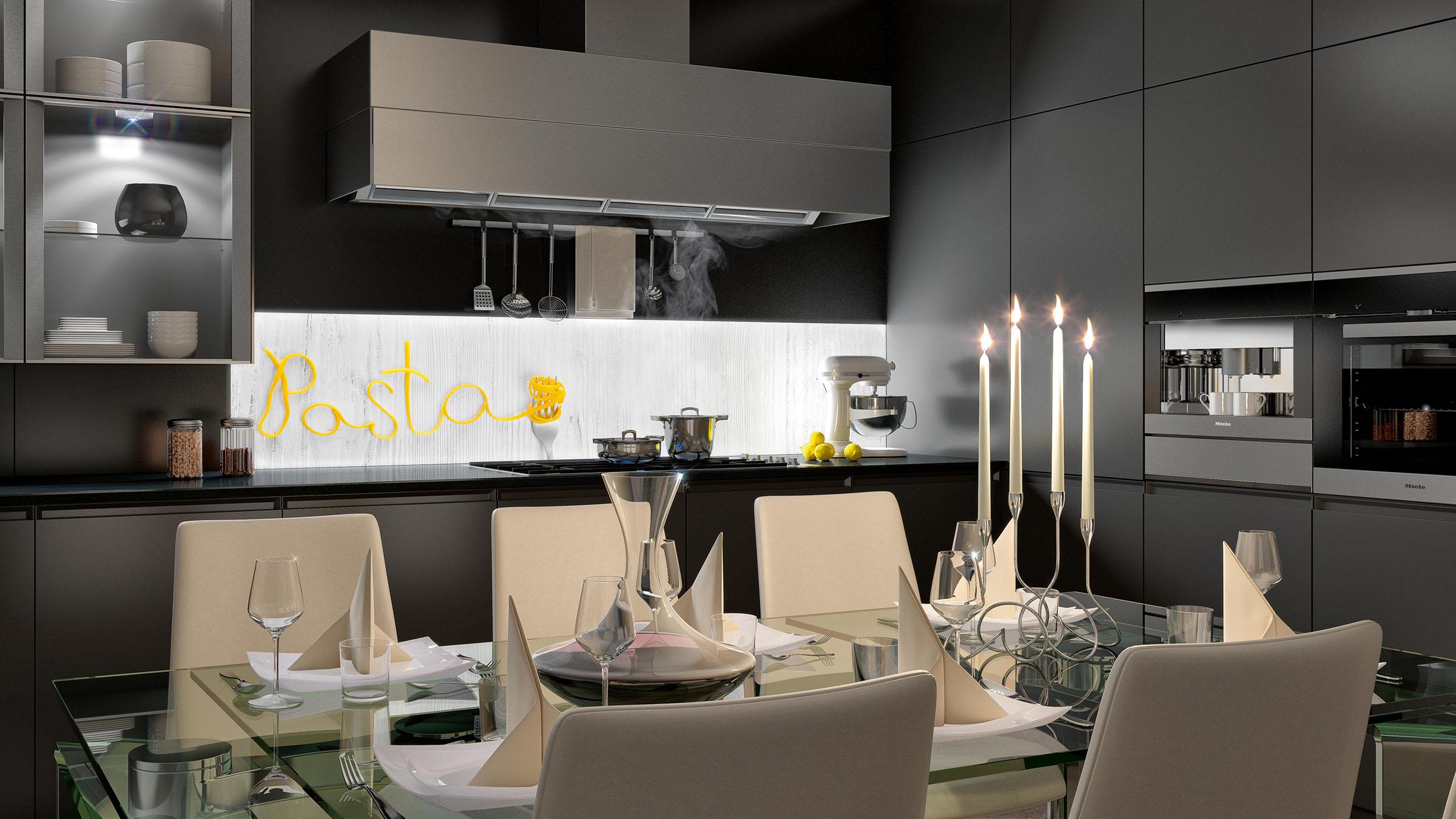 Direktdruck hinter ESG-Glas für Küchenrückwände - Hahn Media ...