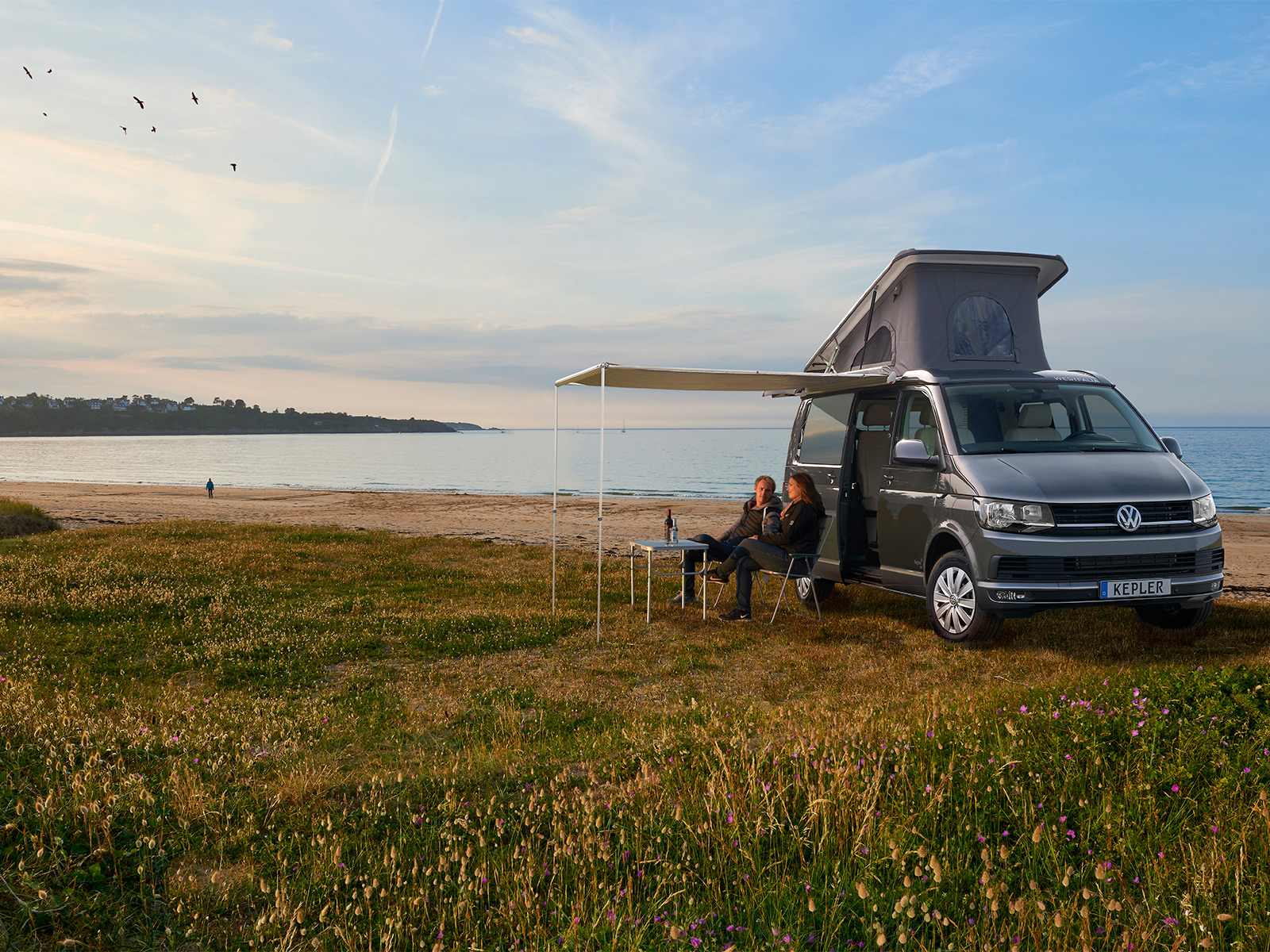K6 camper on location by Hahn Media