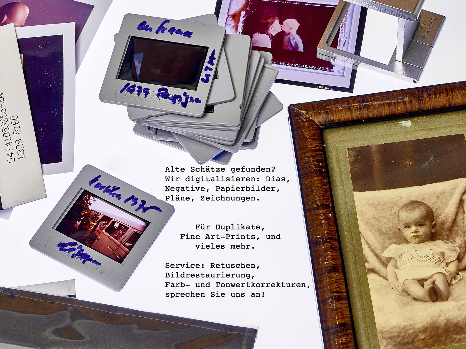 Digitalisierung von Dias, Negativen und Volagen