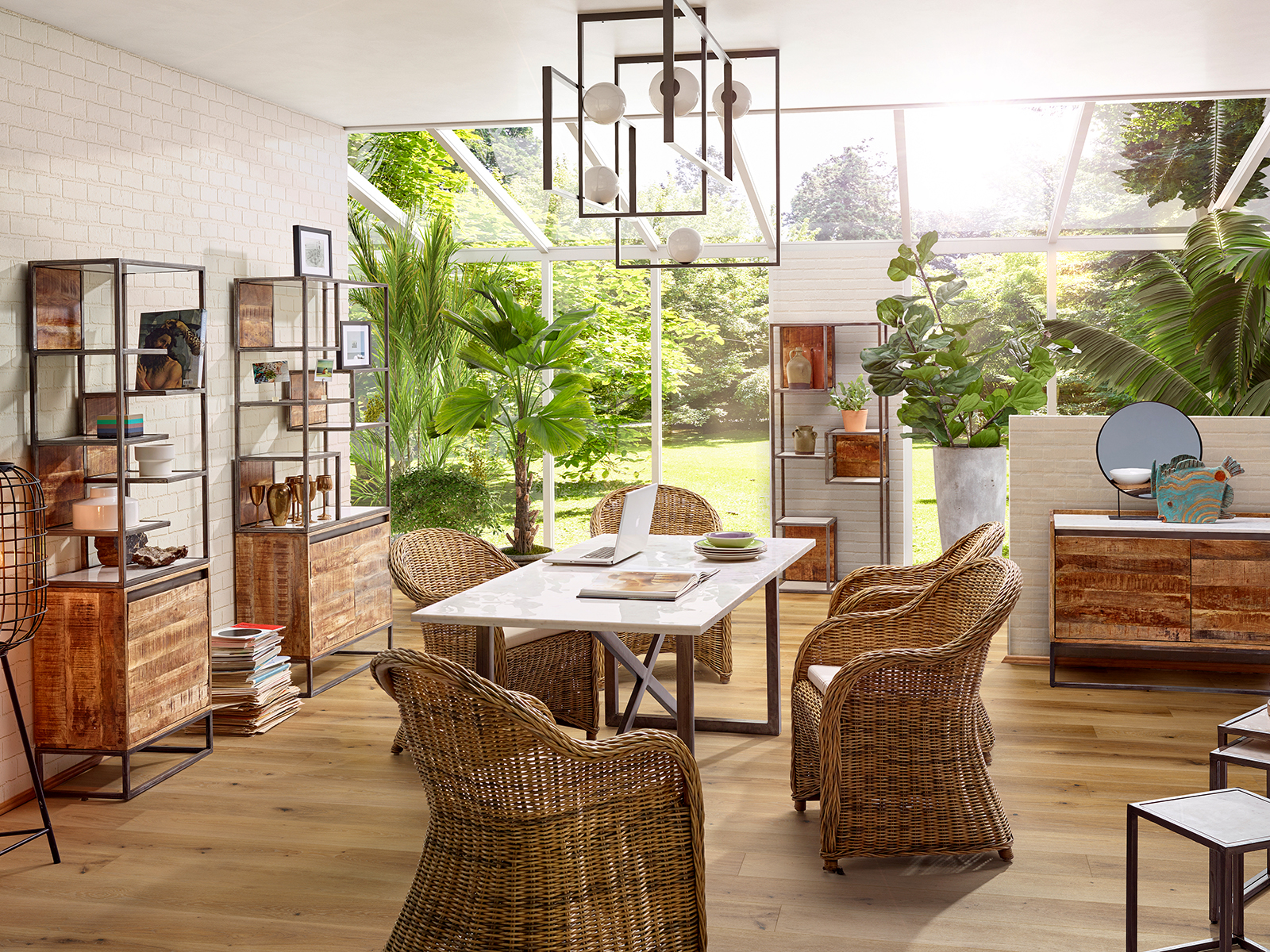 Möbel im Wintergarten Möbelfotografie im Studio